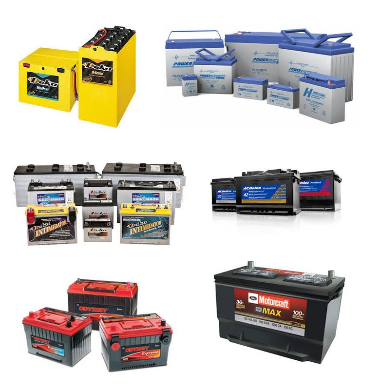 Collage of Batteries